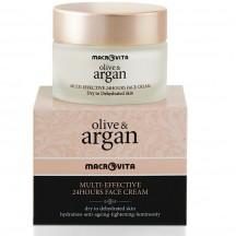 """Круглосуточный крем для лица """"OLIVE & ARGAN""""  (для сухой и обезвоженной кожи)"""
