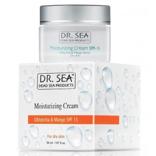 Увлажняющий крем для лица с маслом облепихи и экстрактом манго SPF15 производства Израиль